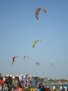 Kite Surfing at Los Alcazares.