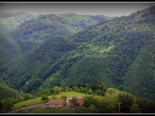 The view of views as seen from above Casa Roger in the lovely foothills of the Carpathian Mountains
