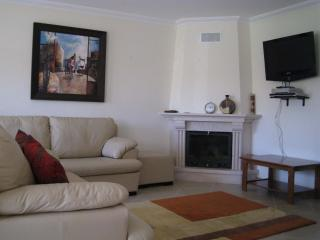 lounge area with leather suite & flatscreen tv/dvd english channels