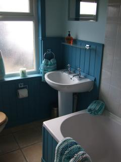 Bath/shower room at Niaroo, Bowmore, Islay