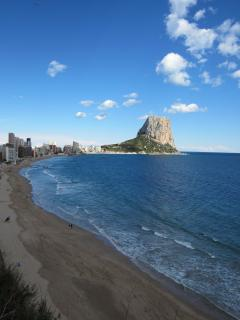 Playa Arena - Bol  with Penon de Ifach