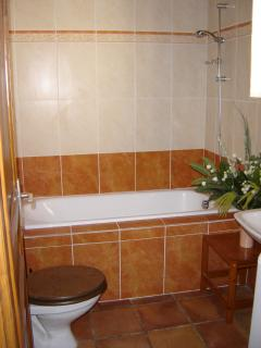 Nice tiled Bathroom and wc