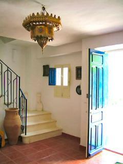Opulent Moorish front entrance of Casa Ava in the morning