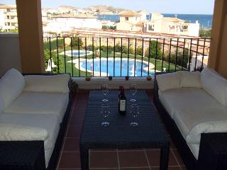 Costa Serena 421 -Wonderful sea views, walk to beach. Free WIFI. UKTV