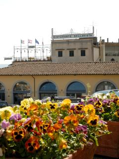 view of Bellavista from the main piazza of the town