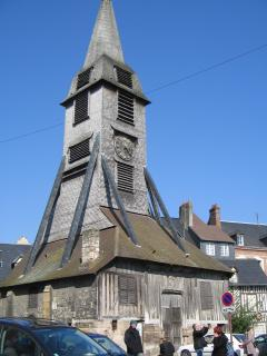 Wooden bell tower of St Catherine