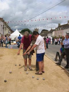 Boules in the summer