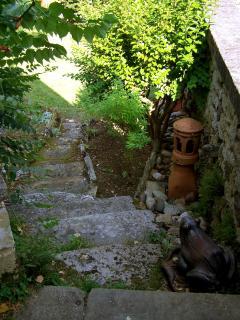 Acces de la terrasse vers le jardin