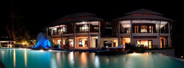 Samui Ridgeway Family Villas are  private and peaceful at nightime