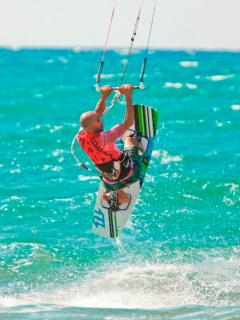 Kite surfing is available at all levels, with equipment and instructors on site