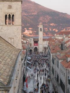 Stradun,the main old city street (photo taken from the city walls)