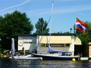 Boathouse; Het Waternest on lake site;, 20 km from Amsterdam , 10 km form Leiden