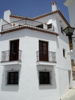 Casa Convento from street;  3 mins walk down to village centre. National Park walks start behind