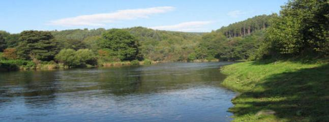 River Spey at the end of the garden