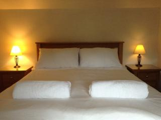 King Size bed with views over the fields