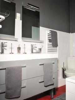 Bloc lavabo 2 personnes  Accessoires offerts ( kit dents;charlotte;savonnette;gel-douche