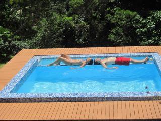...enjoy in the crystal clear fresh-water pool...