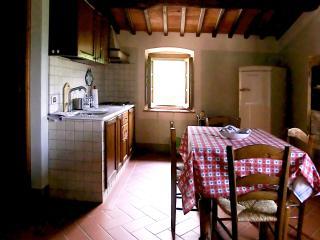 La cucina-tinello dell'appartamento