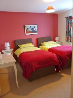 Penyberth red twin bedroom