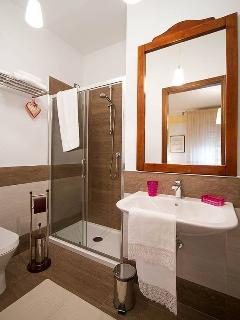 bathroom with big shower