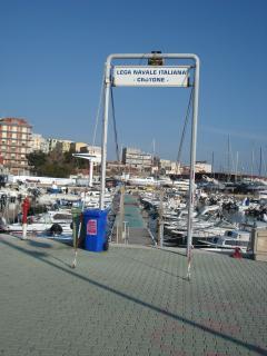 the marina and fishing port