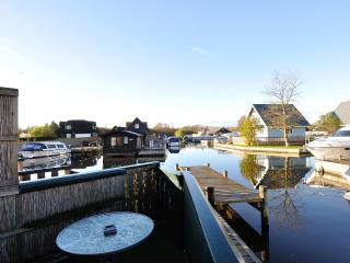 The beautiful view of the peaceful River Bure from the private balcony at 'Langton's View'.
