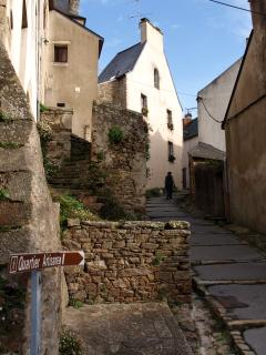 The walk up to the old town