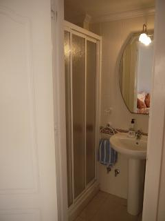 The downstairs shower and toilet area, which is adjacent to our 3rd. bedroom.