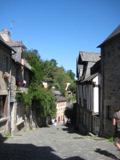 Street in medieval Dinan