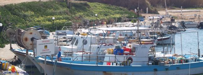 Ayia Triada fishing harbour, 5 minute walk from the villa
