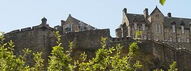 Edinburgh Castle, 10-15 minutes walk
