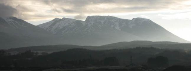 View of Ben Nevis from Gairlochy
