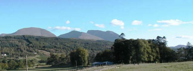 View of Ben Nevis from Moy Farm