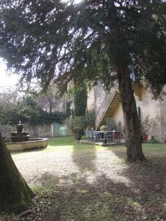 Jardin et fontaine
