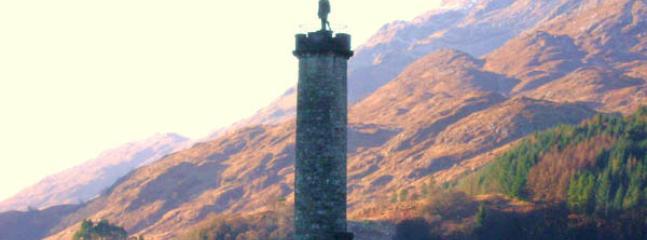 Glenfinnan Monument 15 miles