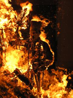 The spectacular fiery end to the Hungry Ghost festival