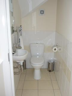 Useful additional toilet upstairs next to the bedrooms