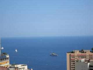 View of Med from balcony of apartment