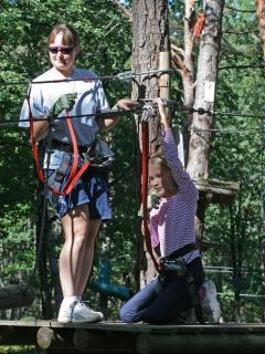 Tree climbing adventures near Chinon