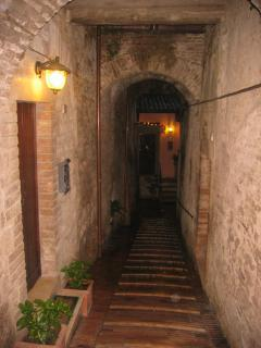 Entrance to the house two minutes walk from the centre of Todi