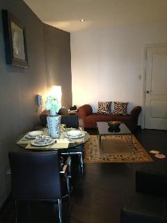 dining area and living room