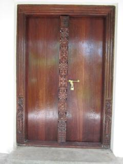 Traditional carved Swahili front door