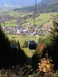 View over Maria Alm from Natrun lift
