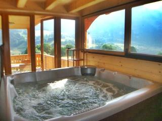 Internal jacuzzi with mountain views!