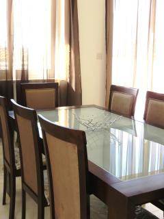 Dining table, seats 8