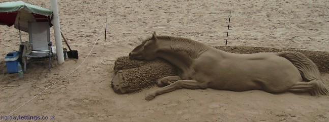 Sand sculpture Levante Beach