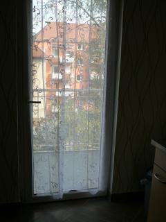 Balkontür in der Küche