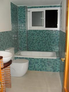 The newly refurbished bathroom