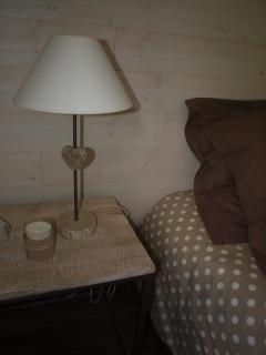 Un détail de la chambre principale