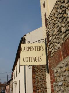 Traditional Carpenters Cottages Sign